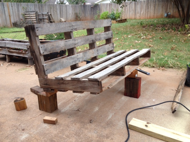 5 Easy Steps To Turn A Pallet Into An Outdoor Patio Bench Rk Black Inc Oklahoma City Ok