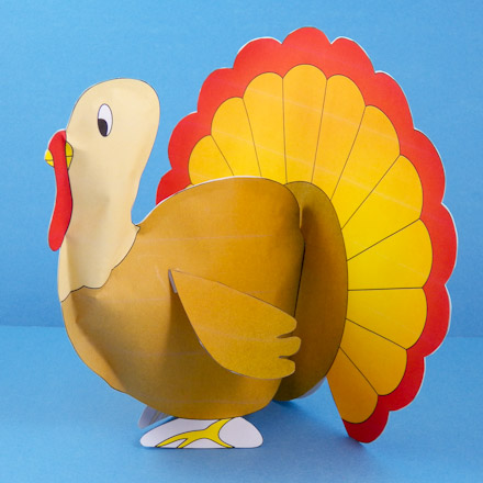 Image of printed, stuffed paper turkey