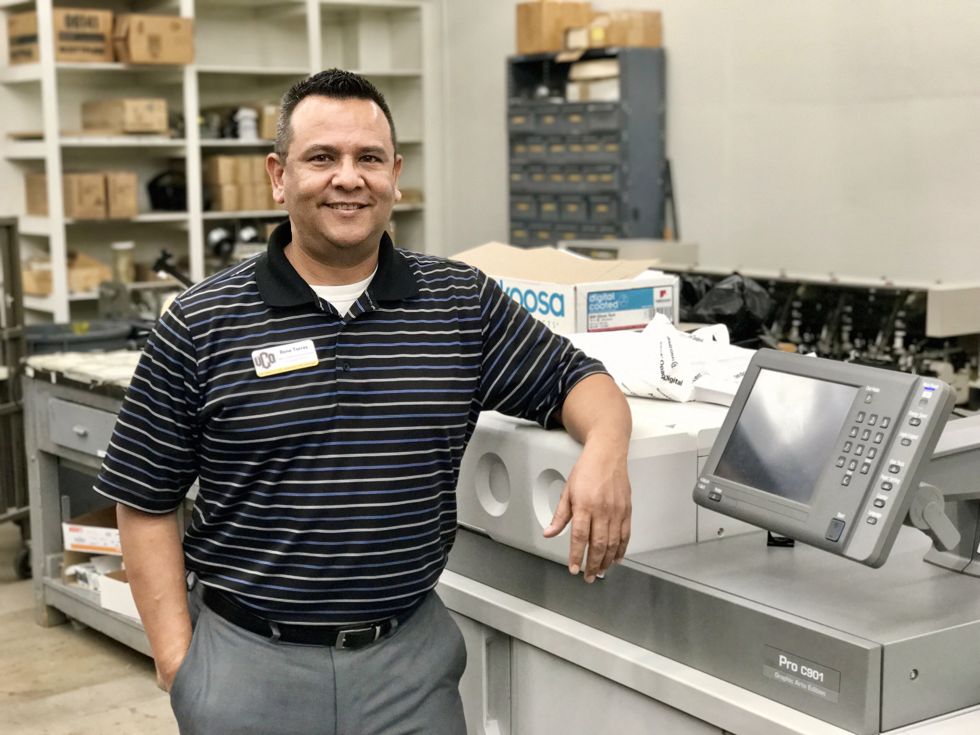 Image of Rene Torres, Print Operations Manager, R.K. Black Office