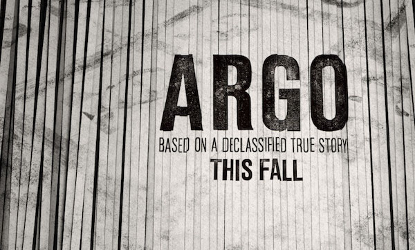 "Graphic from the movie ""Argo"" with logo of shredded document"