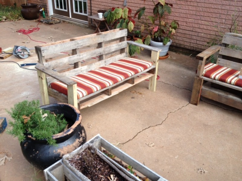 Garden furniture from pallets Cheap 1436372736pic15palletjpg Rk Black Inc Easy Steps To Turn Pallet Into An Outdoor Patio Bench Rk Black