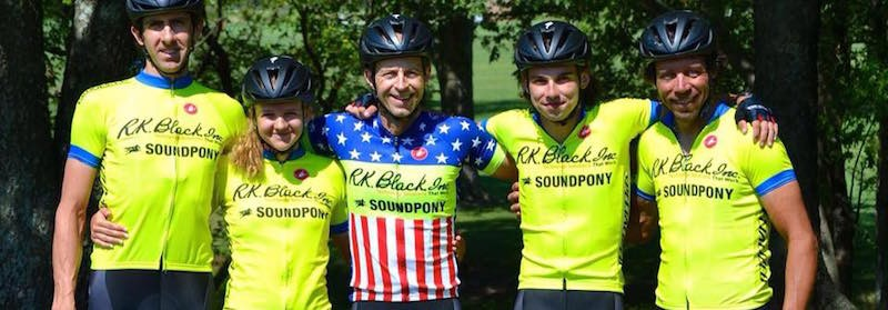 The five-Okie elite cyclocross team SPCX p/b R.K. Black.