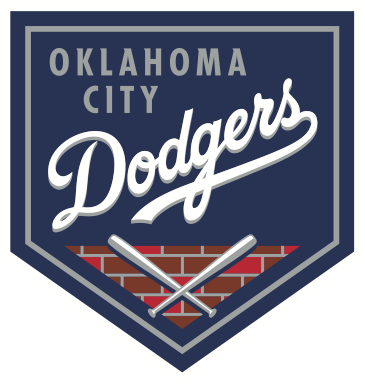 Image of logo for the Oklahoma City Dodgers for which RK Black is proud to be the technology partner
