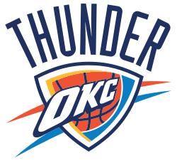 Image of logo for the Oklahoma City Thunder for which RK Black is proud to be technology partner