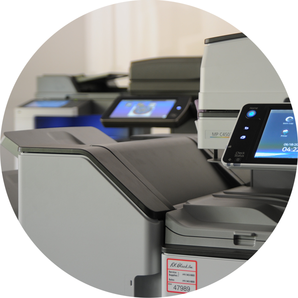 Image of Ricoh, Sharp and Lexmark MPS copiers