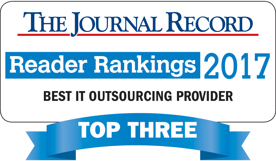 The Journal Record Reader Rankings 2017 for Best IT Outsourcing Provider award logo